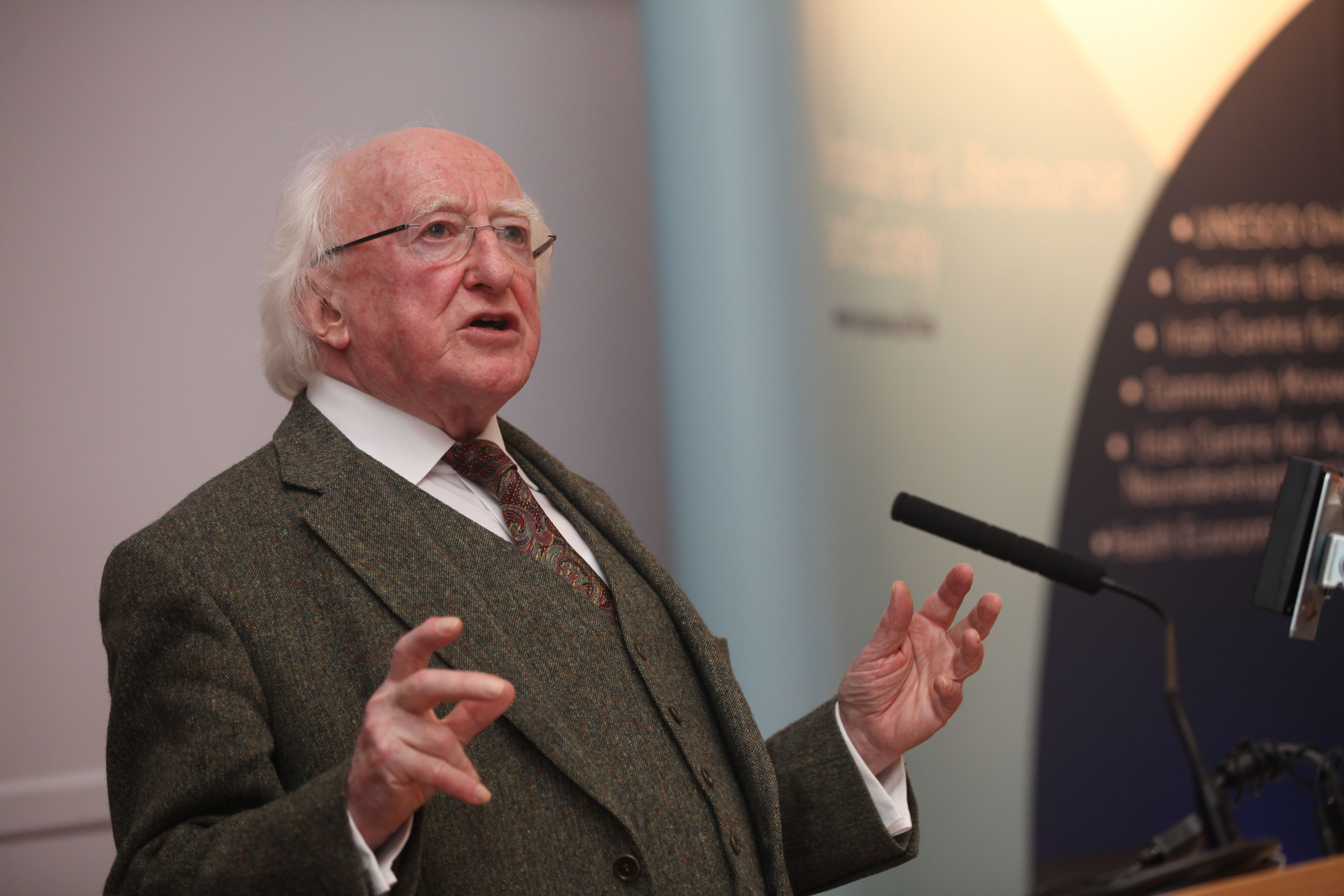 President of Ireland, Michael D. Higgins last night (Monday, 30 November) delivered a lecture at NUI Galway to mark the inauguration of the Institute for Lifecourse and Society (ILAS) Distinguished Lecture Series.