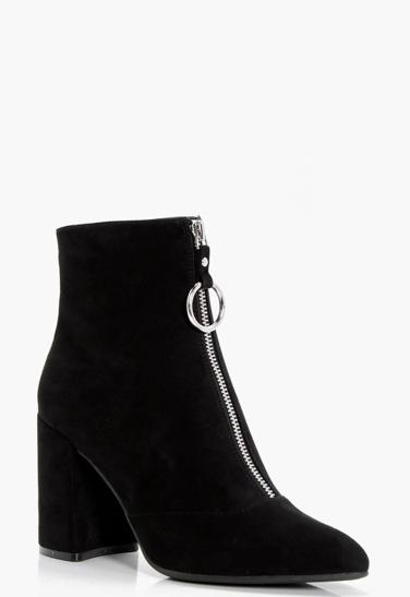 O- Ring Cylinder Heel Boots, Boohoo, €51