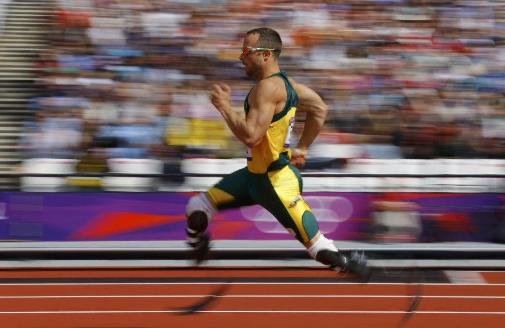 South Africa's Oscar Pistorius competes during round 1 of the men's 400m heats at the London 2012 Olympic Games at the Olympic Stadium August 4, 2012. REUTERS/Phil Noble