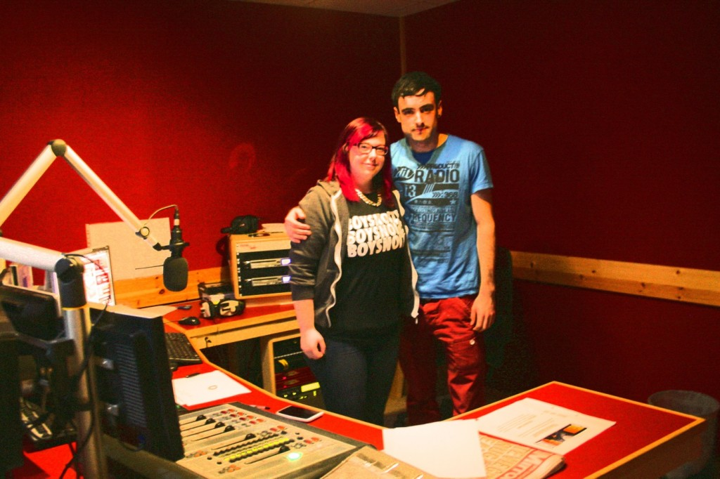 iRadio's Louise Clark with wild card Steve Curran from Take the Stand